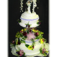 G's Wedding Cake my second wedding cake and scared to death of the tier !! SO afraid it would fall. vanilla cake, fresh flowers