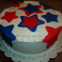 Patriotic Celebration He went away a boy --and came back a Marine! Chocolate cake with chocolate filling; vanilla butter bc with fondant accents. My first time...