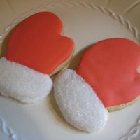 Santa's Mittens Tried a new sugar cookie recipe (white chocolate from Karen's cookies website) and used up some leftover icing that I had around. Just...