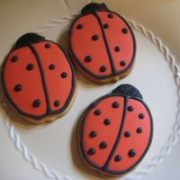 Ladybug Cookies I had some time this weekend and I made the White Chocolate Sugar cookie recipe from Karens Cookie's website (so good!) and used up...