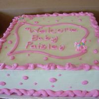 Baby Girl Baby Shower Cake