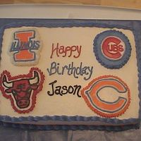 Chicago Fan Birthday Cake Here is a buttercream cake that I made for my husband, he is a huge chicago fan! I havent made a cake for almost 9 months, kind of rusty!...