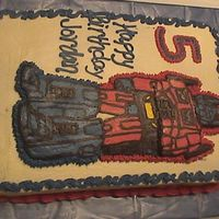 Optimus Prime Here is a buttercream transfer I did for my sons 5th bday
