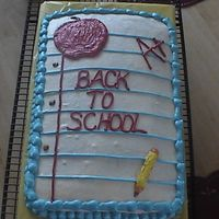Back To School Here is a cake I made for the kids to celebrate going back to school. I totally got the idea form here, bc I thought it was so cute! Thank...