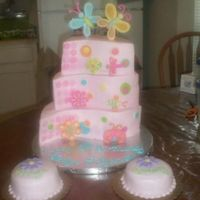 Twin Girls' Birthday Iced in BC with fondant accents. I made the bugs, butterflies and flowers with 50/50. I cut the sames from round pans to try and achieve...