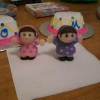 """little People"" Birthday Girls I made these ""Little People"" girls to go on the birthday girls' smash cakes. They are fondant. The girls (and parents) loved..."