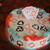 Poker Father's Day Cake.