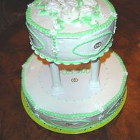 Simple Wedding Cake big cake is a pruine cake, top is a butter cake.I used the faux BCll from CC. thanks for all the input. what can i do when piping roses, i...