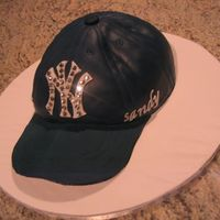 Ny Yankee Hat I made this for hubby's BF groom cake. I followed Confetti Cake instructions.