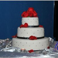 Bling Wedding Black, silver, and red themed wedding