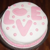 Love Cake   I made this fondant cake for my hubby for dessert on Valentine's day this year.