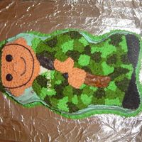 Soldier   I made this all BC cake in celebration of my brother's homecoming after serving a year in Afgan.