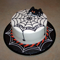 Spider Cake This birthday Spider Cake was for a friend who loves Halloween. Both the white and black webs are made with SugarVeil. Iced in BC. Spider...
