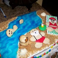 Santa's Vacation Cake is straight from the Wilton 2007 yearbook. We only used a 9x13 pan, so did not have as much room as we would have liked, and our Palm...