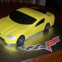 2008 Corvette   Hand carved, lemon pound cake,lemon butter cream icing,fondant details.