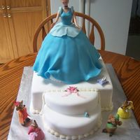 Cinderella  Cinderella is Chocolate Swiss pound cake, the square cake and stairs is vanilla confetti cake, all cakes iced in butter cream icing and...