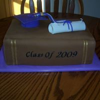 Graduation 2009   Chocolate Swiss cake, buttercream icing,fondant details.