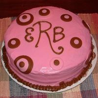 Monogrammed Baby Shower Cake I made this cake for my sister's friend's baby shower. Was very last minute, and was the colors of the baby's bedroom.