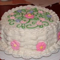 Wilton Cake This is a cake I made years ago and just recently dug up the photo. I'm sure it was a Wilton class type cake, but I don't think I...