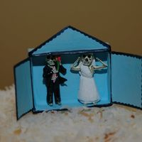Dia De Los Muertas Cake Topper This is an up close shot of the cake topper that adorned the previously posted coconut cak with lemon curd filling. The bride is a good...