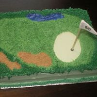 Another Golf Course Looks like the golf course cakes are getting pretty popular. This is our third one in as many months. Marble cake with vanilla custard...