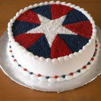 Born On The Fourth Of July I was going crazy trying to do a cake for a friend's July 4th birthday, so I came to CakeCentral to try and find something I could do...
