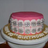 Braces This was for an orthodontists birthday. I got the idea form sugarlaced (Thank you!!!) what a great idea everyone loved it.