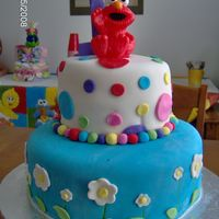 Elmo 1St Birthday This was for my daughters first birthday her big brother (3) and sister (6) did all the decorating, all I did was ice and cover and they...