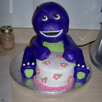 Barney The Dinosaur This is a take off of my elmo cake, I used fondant instead of buttercream and I loved the effect. Thank to Liis I got the inspiration for...
