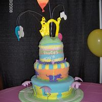 Oh, The Places You'll Go! This was for a graduation party, it is based on the Dr. Seuss book. It was kind of a disaster it was supposed to be topsy turvy but the...