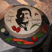 Chef This cake was a gift for India's most celebrated chef - Sanjeev Kapoor. He loved the cake and that was my reward for several hours of...