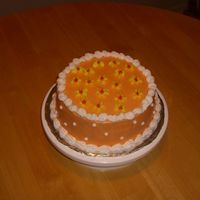 Practice Just using up some leftover frosting and getting some practice. I liked how the colors looked together. It's a yellow cake with...