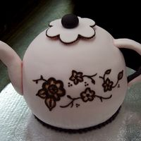 Teapot.jpg two half ball cakes with fondant accents
