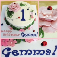 Gemma's First Birthday Lemon poppyseed cake covered w/lemon buttercream and accented w/mmf. TFL!