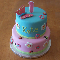 Garden Girl First Birthday Made to match the partyware. All fondant. :)