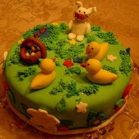 Easter Cake   chocolate cake with marshmallow fondant