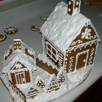 Gingerbread House In Winter   My first gingerbread house made last december (in 2006)...