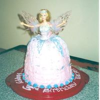 Swan Lake Barbie Cake   Strawberry cake5 tiersA real Swan Lake Barbie doll- her wings lit up.