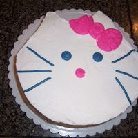 Hello Kitty This cake was actually for a coworker that really loves Hello Kitty. It was very easy to make and ended up taking very little time. It was...