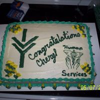 My Grad Cake  I haven't done a decorated cake in a very long time so I am a little rusty right now. I did this one with the Ivy Tech logo and the...