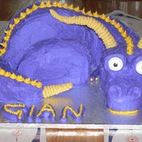Spyro The Dragon My son requested a Spyro the Dragon cake for his birthday and this is what I came up with. It doesn't have wings, because I forgot to...