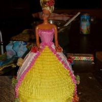 First Doll Cake My friend and I decided to try and do a doll cake, just for fun. Neither of us had ever done one and we took turns decorating it. Here&#039...