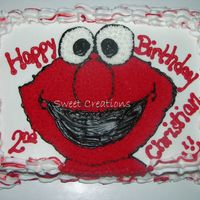 Really Happy Elmo I know you all are probally tired of seeing Elmo, but I was so tickled with How RED I got the icing and How big his smile turned out,He is...