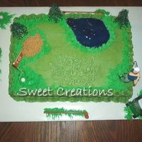 Love To Golf My Hubby's birthday Cake, it was a lot of fun to make.