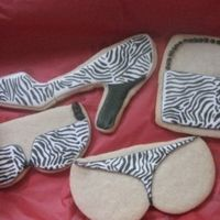 Zebra Cookies   Made these for my mom -- she loves anything animal print.