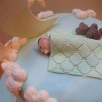 First Baby Shower Cake This is my first baby shower cake...inspired, of course, by many wonderful artists on CC!