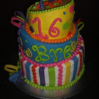 Sweet Sixteen 1st Attempt at a Topsy Turvy Cake! So fun!