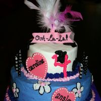 Ooh La La Fancy Nancy inspired cake in buttercream with some fondant accents
