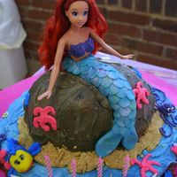 A Little Mermaid Fondant Buttercream Doll Cake