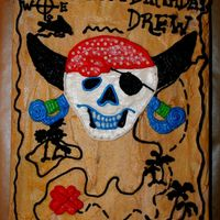 Treasure Map For a pirate birthday party with a treasure hunt.